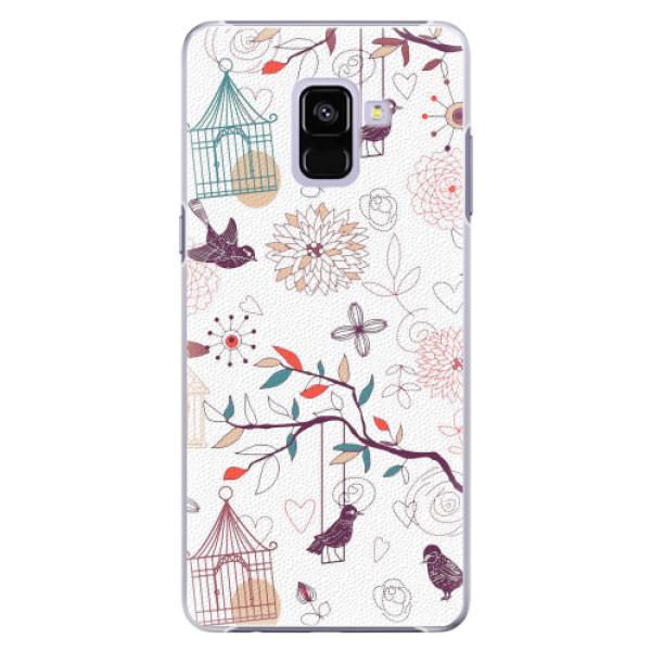 Plastové pouzdro iSaprio - Birds - Samsung Galaxy A8+