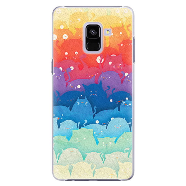 Plastové pouzdro iSaprio - Cats World - Samsung Galaxy A8+