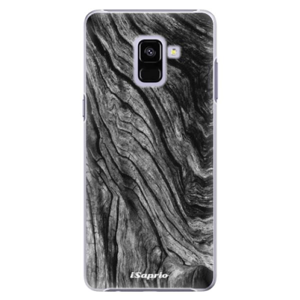 Plastové pouzdro iSaprio - Burned Wood - Samsung Galaxy A8+