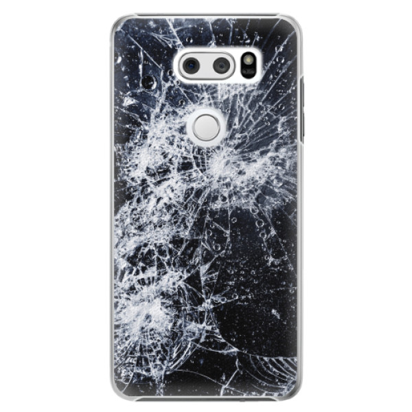 Plastové pouzdro iSaprio - Cracked - LG V30