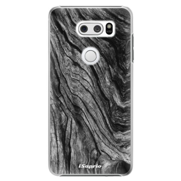 Plastové pouzdro iSaprio - Burned Wood - LG V30