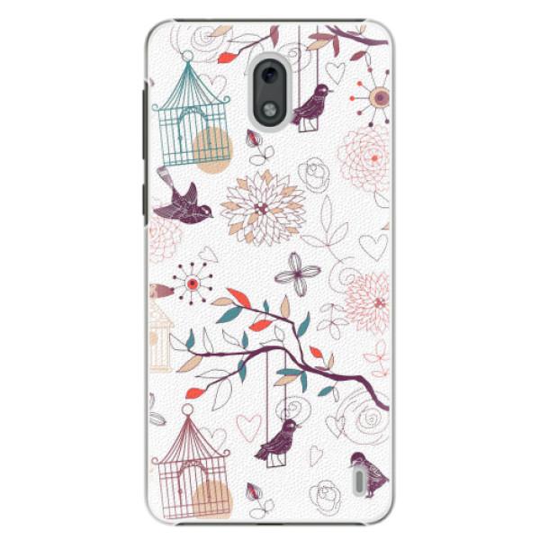 Plastové pouzdro iSaprio - Birds - Nokia 2