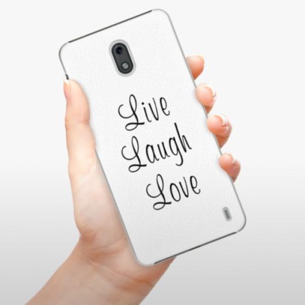Plastové pouzdro iSaprio - Live Laugh Love - Nokia 2