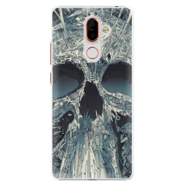 Plastové pouzdro iSaprio - Abstract Skull - Nokia 7 Plus