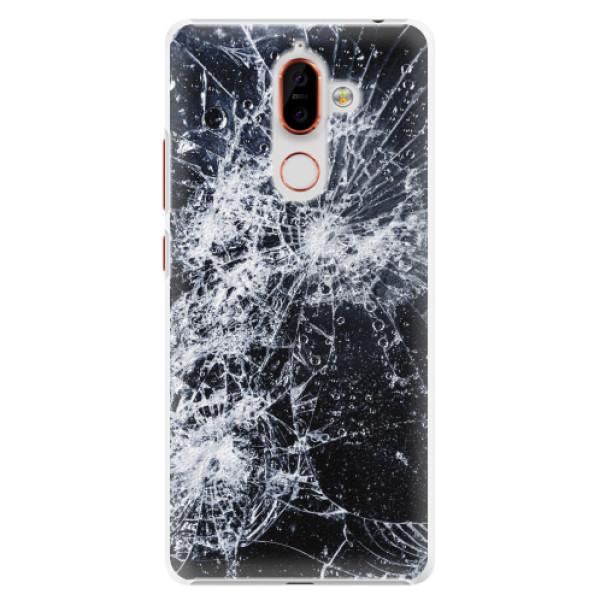 Plastové pouzdro iSaprio - Cracked - Nokia 7 Plus