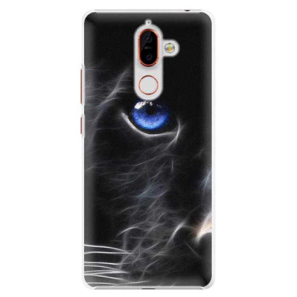 Plastové pouzdro iSaprio - Black Puma - Nokia 7 Plus