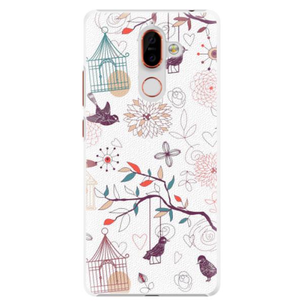 Plastové pouzdro iSaprio - Birds - Nokia 7 Plus