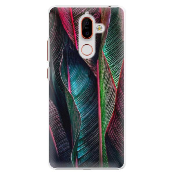 Plastové pouzdro iSaprio - Black Leaves - Nokia 7 Plus