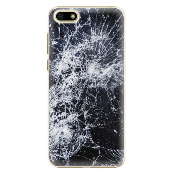 Plastové pouzdro iSaprio - Cracked - Huawei Y5 2018