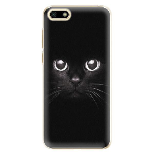 Plastové pouzdro iSaprio - Black Cat - Huawei Y5 2018