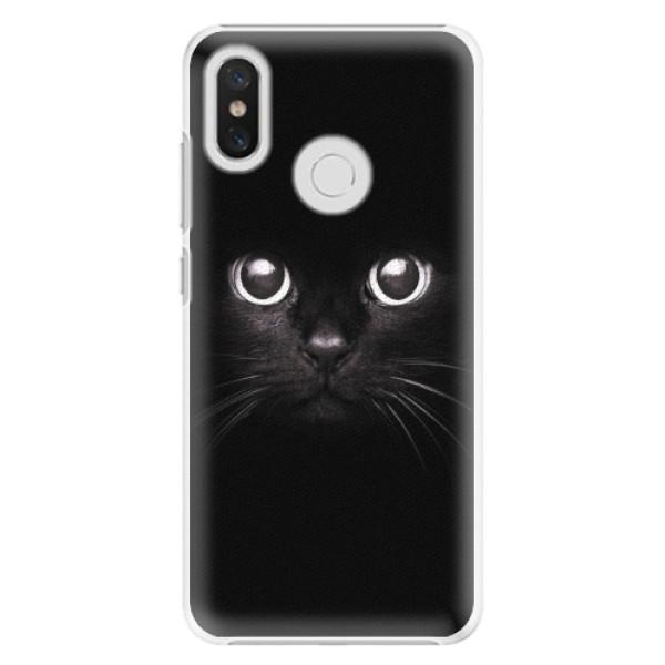 Plastové pouzdro iSaprio - Black Cat - Xiaomi Mi 8