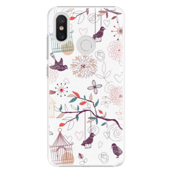 Plastové pouzdro iSaprio - Birds - Xiaomi Mi 8