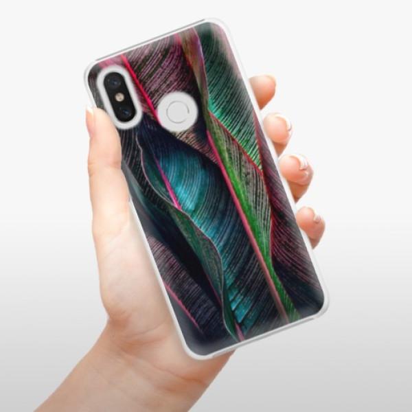 Plastové pouzdro iSaprio - Black Leaves - Xiaomi Mi 8