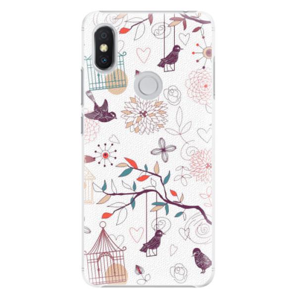 Plastové pouzdro iSaprio - Birds - Xiaomi Redmi S2