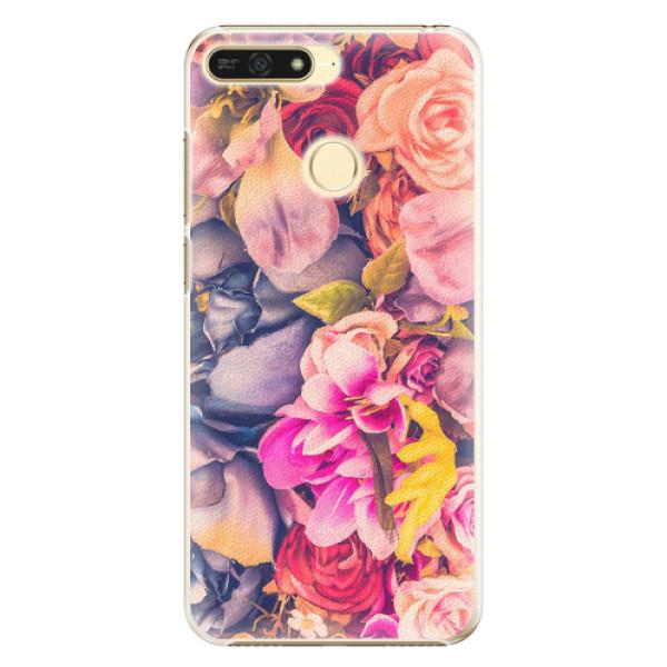 Plastové pouzdro iSaprio - Beauty Flowers - Huawei Honor 7A