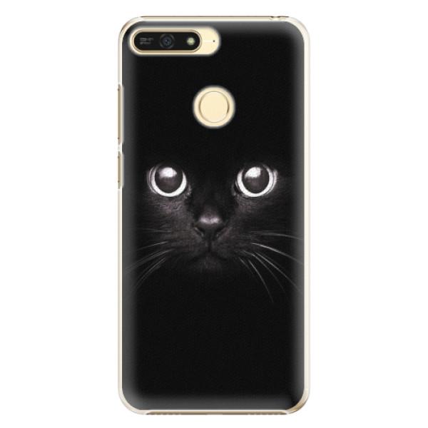 Plastové pouzdro iSaprio - Black Cat - Huawei Honor 7A