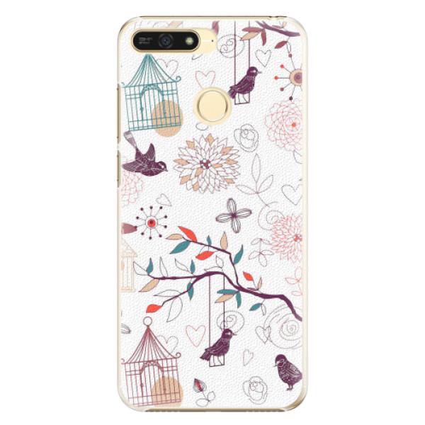 Plastové pouzdro iSaprio - Birds - Huawei Honor 7A