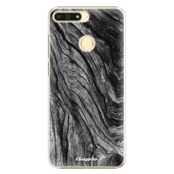 Plastové pouzdro iSaprio - Burned Wood - Huawei Honor 7A
