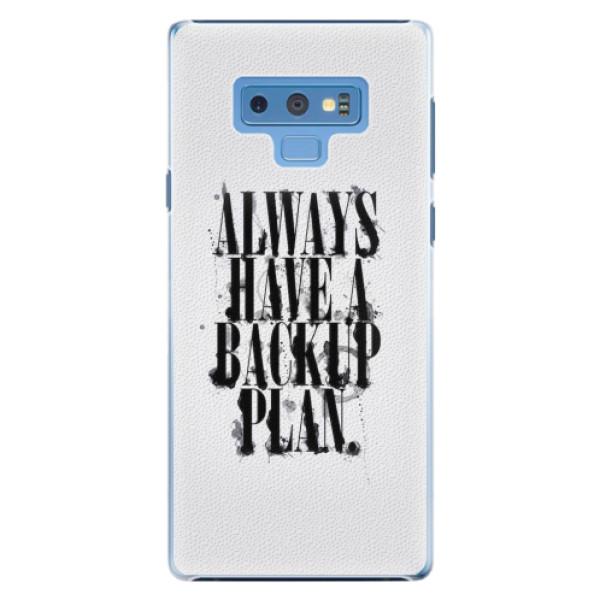 Plastové pouzdro iSaprio - Backup Plan - Samsung Galaxy Note 9
