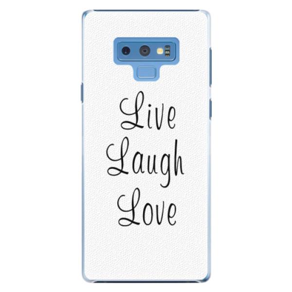 Plastové pouzdro iSaprio - Live Laugh Love - Samsung Galaxy Note 9