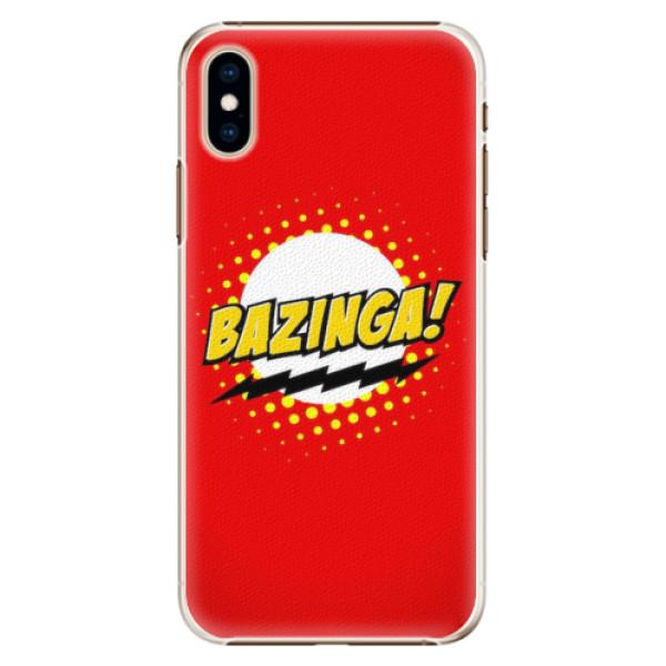 Plastové pouzdro iSaprio - Bazinga 01 - iPhone XS