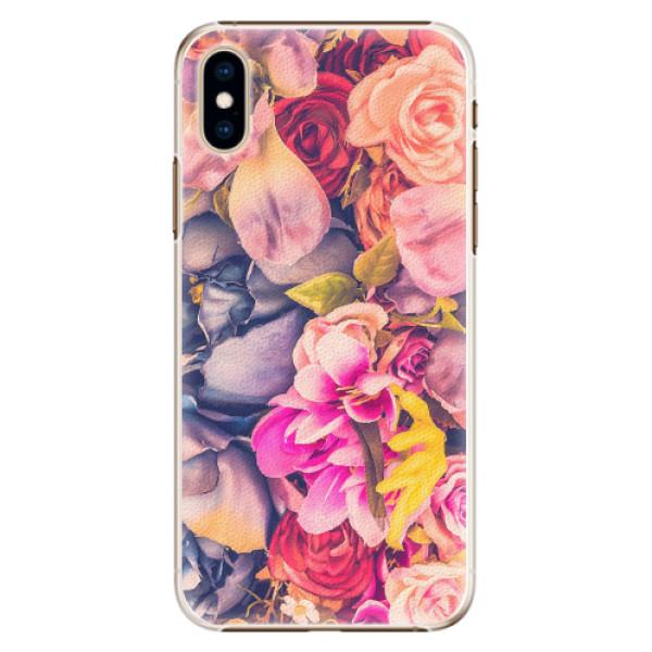 Plastové pouzdro iSaprio - Beauty Flowers - iPhone XS