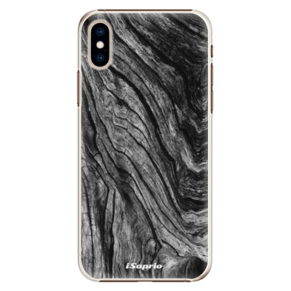 Plastové pouzdro iSaprio - Burned Wood - iPhone XS