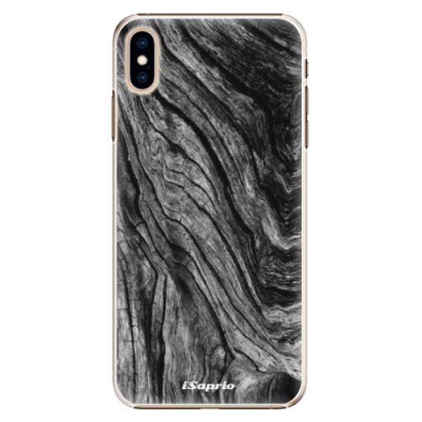 Plastové pouzdro iSaprio - Burned Wood - iPhone XS Max