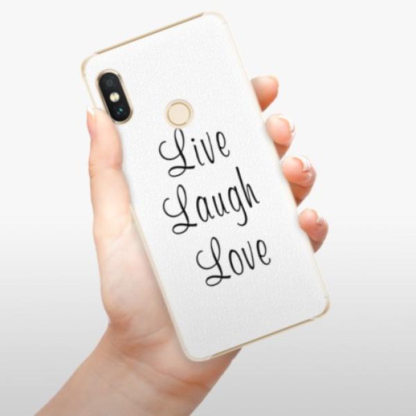 Plastové pouzdro iSaprio - Live Laugh Love - Xiaomi Redmi Note 5