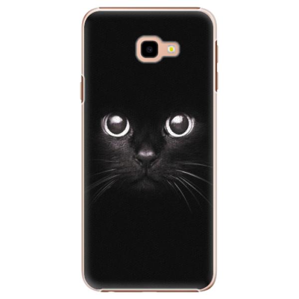 Plastové pouzdro iSaprio - Black Cat - Samsung Galaxy J4+