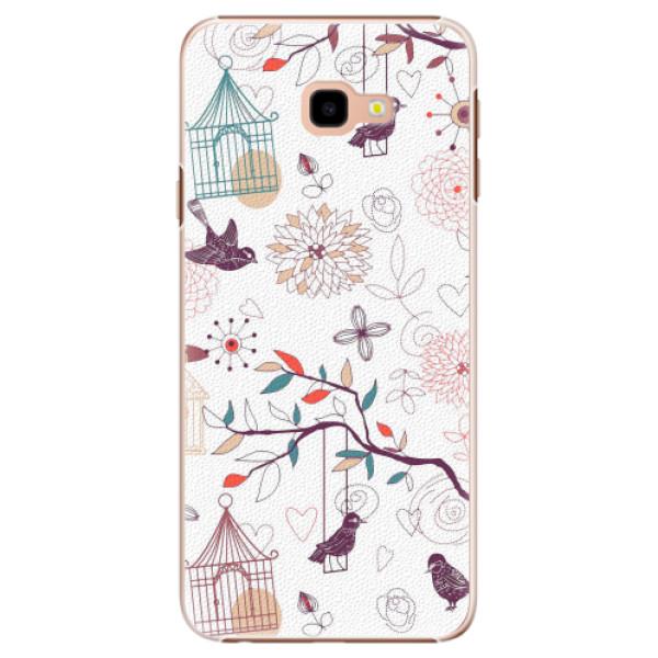 Plastové pouzdro iSaprio - Birds - Samsung Galaxy J4+