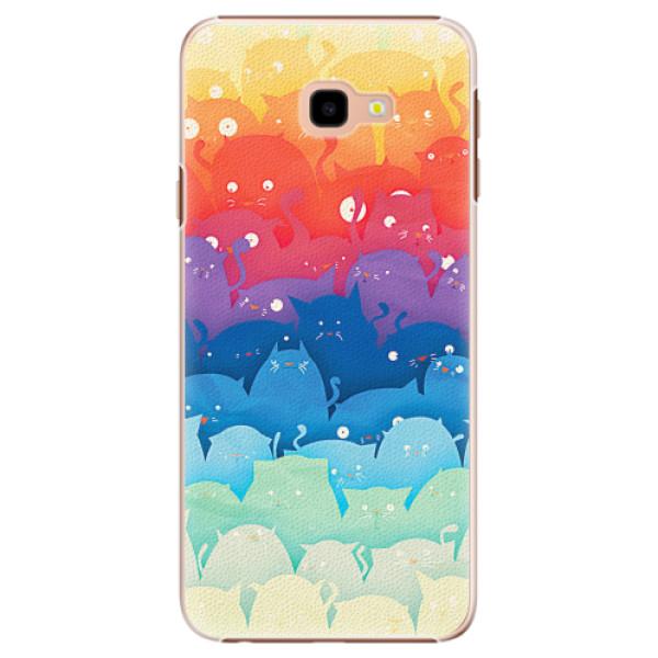 Plastové pouzdro iSaprio - Cats World - Samsung Galaxy J4+
