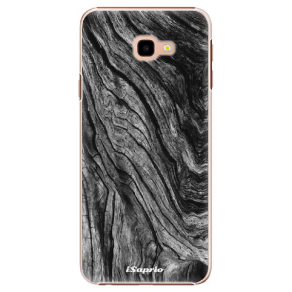 Plastové pouzdro iSaprio - Burned Wood - Samsung Galaxy J4+
