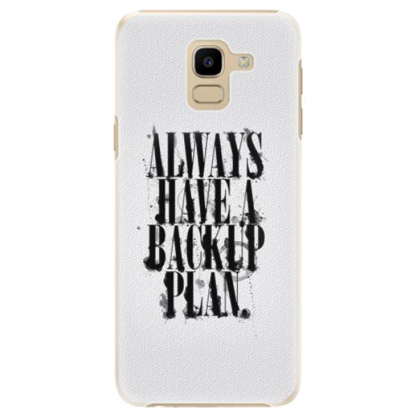 Plastové pouzdro iSaprio - Backup Plan - Samsung Galaxy J6