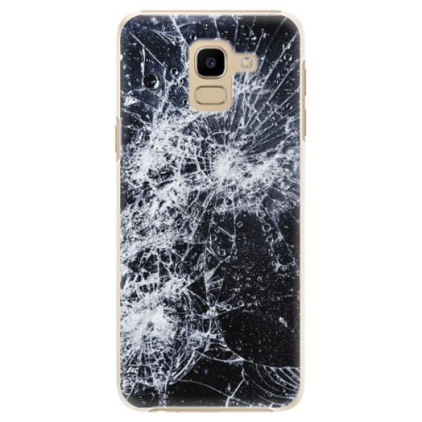Plastové pouzdro iSaprio - Cracked - Samsung Galaxy J6