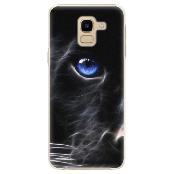 Plastové pouzdro iSaprio - Black Puma - Samsung Galaxy J6