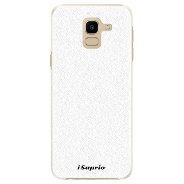 Plastové pouzdro iSaprio - 4Pure - bílý - Samsung Galaxy J6