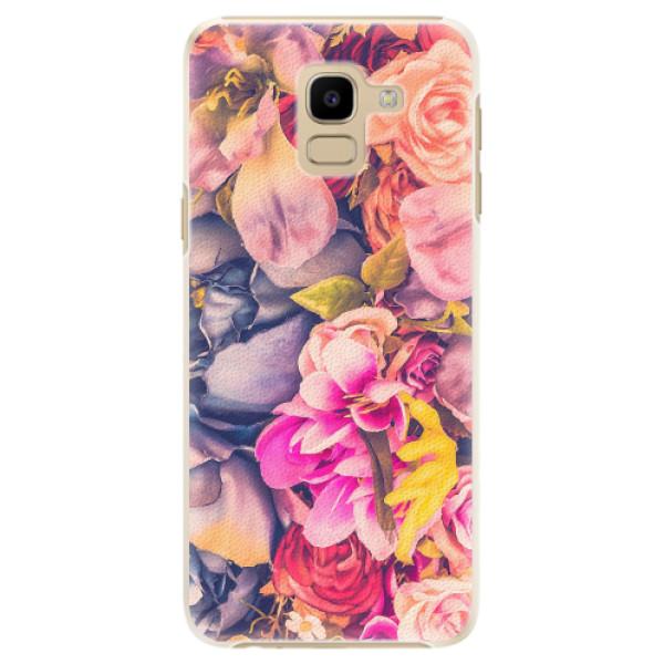Plastové pouzdro iSaprio - Beauty Flowers - Samsung Galaxy J6
