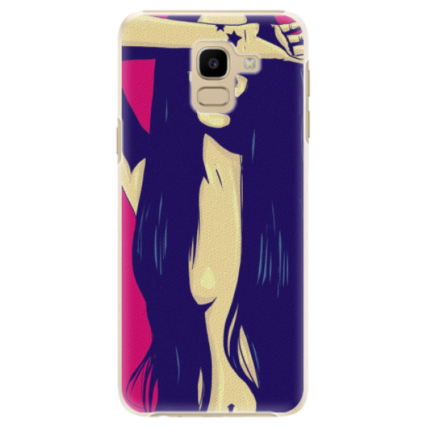 Plastové pouzdro iSaprio - Cartoon Girl - Samsung Galaxy J6