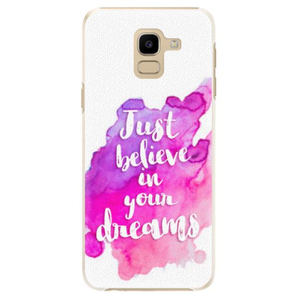 Plastové pouzdro iSaprio - Believe - Samsung Galaxy J6