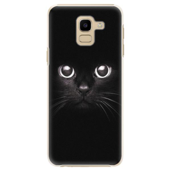 Plastové pouzdro iSaprio - Black Cat - Samsung Galaxy J6