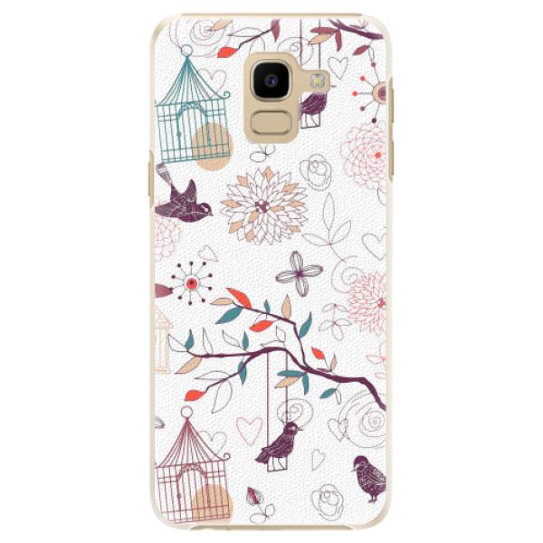Plastové pouzdro iSaprio - Birds - Samsung Galaxy J6
