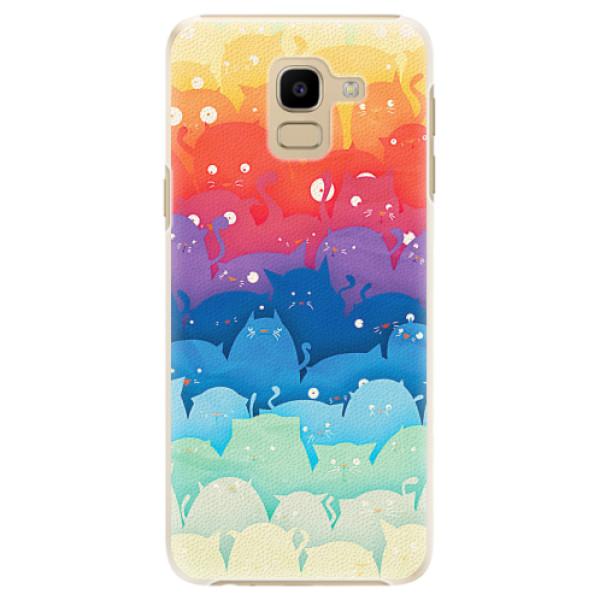 Plastové pouzdro iSaprio - Cats World - Samsung Galaxy J6