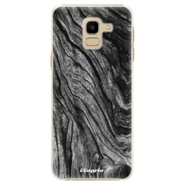 Plastové pouzdro iSaprio - Burned Wood - Samsung Galaxy J6
