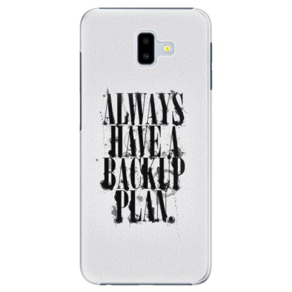 Plastové pouzdro iSaprio - Backup Plan - Samsung Galaxy J6+