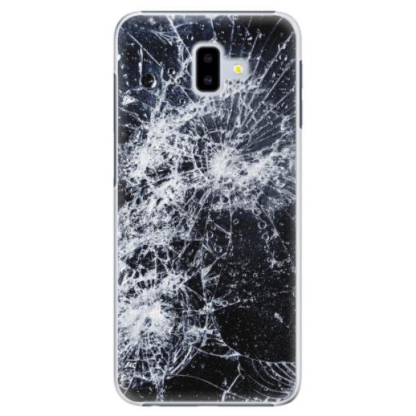 Plastové pouzdro iSaprio - Cracked - Samsung Galaxy J6+
