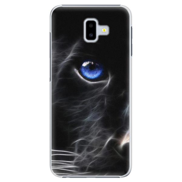Plastové pouzdro iSaprio - Black Puma - Samsung Galaxy J6+