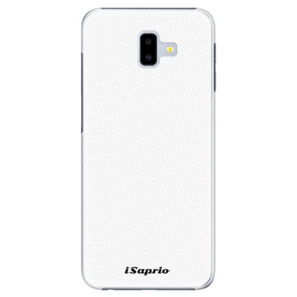 Plastové pouzdro iSaprio - 4Pure - bílý - Samsung Galaxy J6+