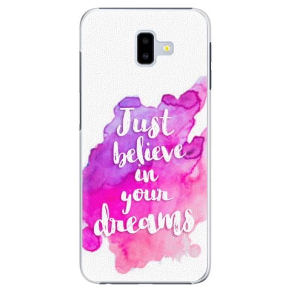 Plastové pouzdro iSaprio - Believe - Samsung Galaxy J6+