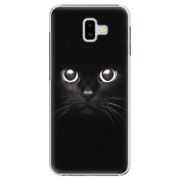 Plastové pouzdro iSaprio - Black Cat - Samsung Galaxy J6+